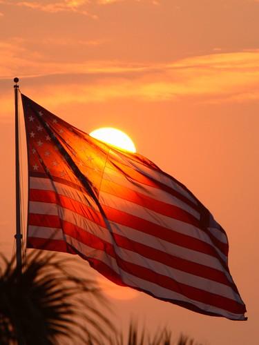 sunrise nc flag tallships starsandstripes oldglory atlanticbeach fortmacon paradeofsail canoneos30d canonef70200mmf28lisusm