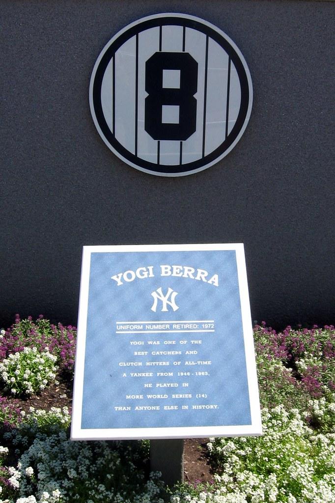 Yankee Stadium Monument Park Retired Numbers Yogi Ber
