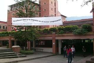 Conference banner at the university