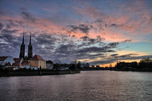 Sunrise viewed from Ostrów Tumski