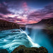 A Midsummer Night at Mighty Gulfoss by hpd-fotografy