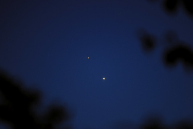 Jupiter and Venus on June 29, 2015