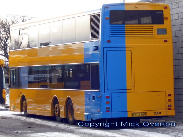 2001 Volvo B7LT City Trafik 2801 freshly repainted January 2010