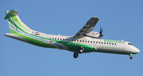 ATR 72-600 BINTER CANARIAS F-WWET MSN1359 (EC-MOL A L'AEROPORT TOULOUSE-BLAGNAC LE 21 12 16