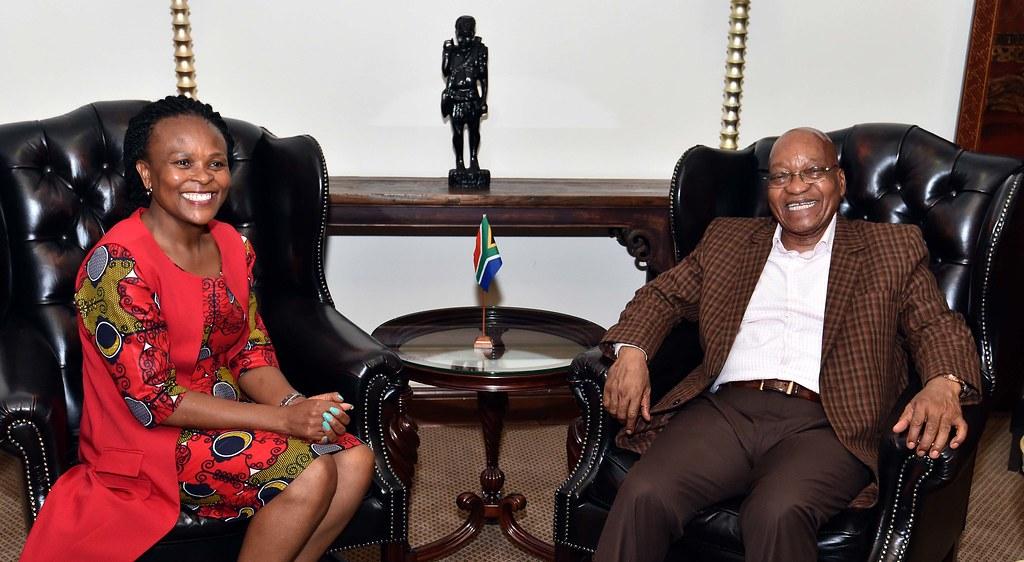 President Jacob Zuma meets new Public Protector Adv Busisiwe Mkhwebane, 13 Dec 2016