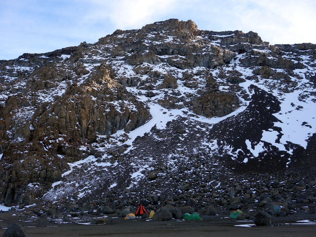 Crater Camp and Uhuru Peak above