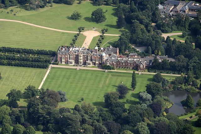 Sandringham House aerial view