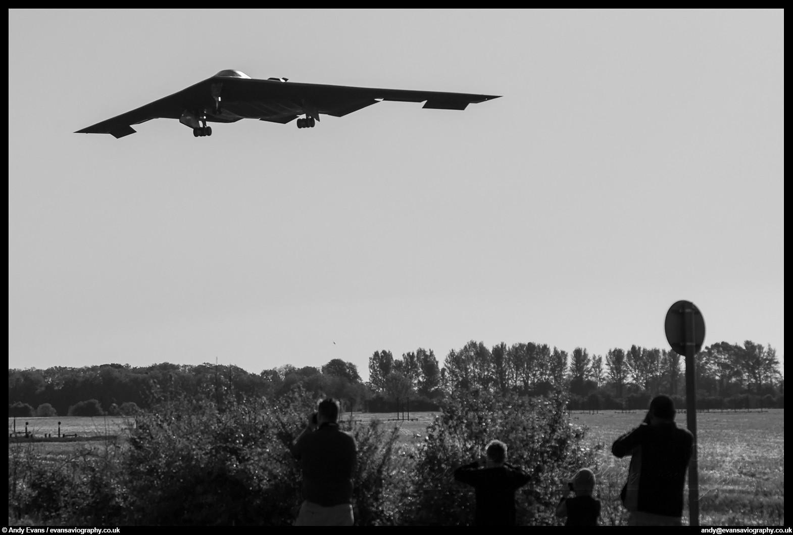 RAF Fairford 7th June 2015 - B-2A Arrival