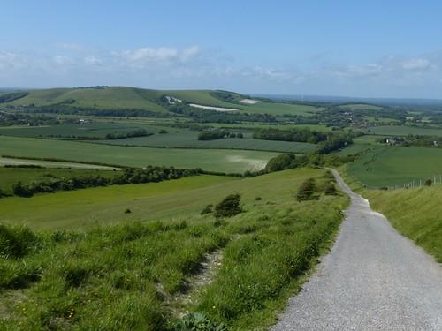 Descending to Glynde (anticlockwise) Lewes Circular walk