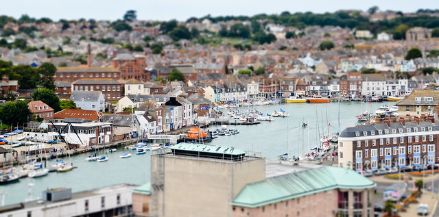 Weymouth Harbor Tilt Shift