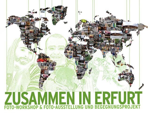Zusammen in Erfurt Postkarte