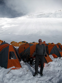 Me at Camp 2 on Cho Oyu, our eventual high point (7150m) | by markhorrell