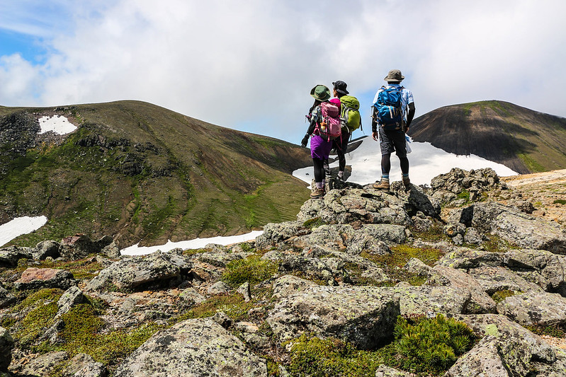 大雪山の集合写真