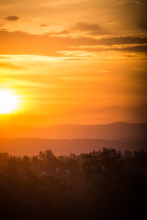 Sunrise in Redding, CA as seen from the Fairfield Inn | by m01229