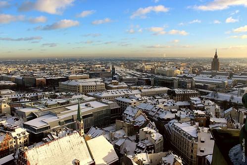riga latvia lettonia vecriga christmastree view neve natale panorama panoramiche white vista paesaggio natalizio nevivatabianco wow snow winter frozen balticsea city