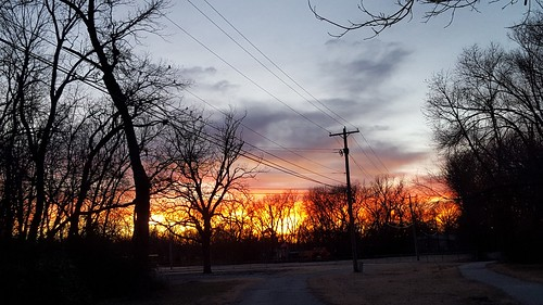 bartlesville sunset willrodgersschool cloudsstormssunsetssunrises powerlines park