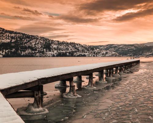 okanagan lake snow winter armstrong britishcolumbia canada cabinlife parkercove