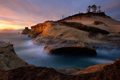 sunset seascape oregon rocks waves pacificocean oregoncoast capekiwanda dsc89543aw