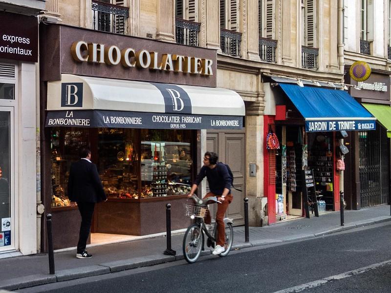 """Chocolate Shop """"La Bonbonnière de la Trinité"""". Paris. France."""