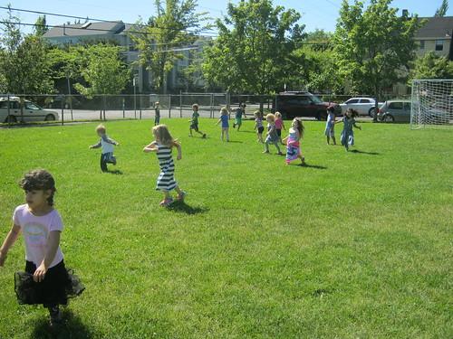 Children's House - Running on the Soccer Field