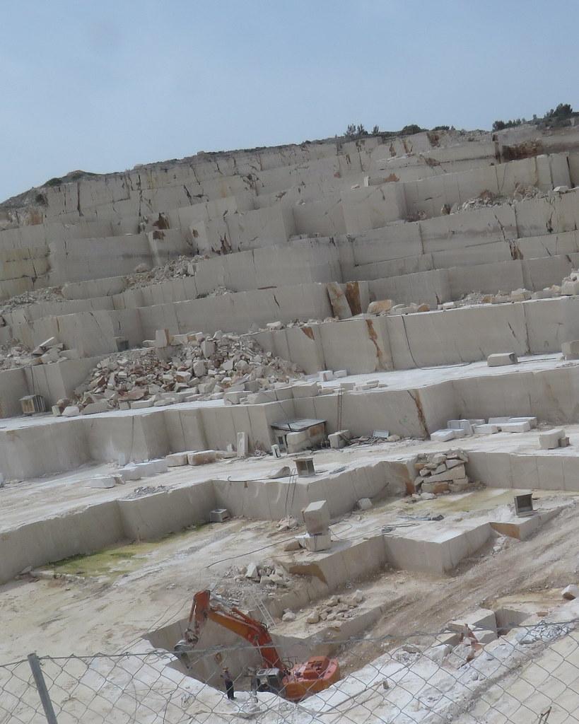 Whitest Limestone Quarry on Brac Island in Croatia 2015 FE