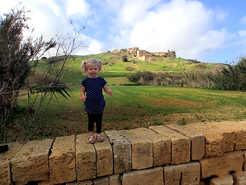 2016 - Europe - Gozo - Beach Day - Millie on Wall | by SeeJulesTravel