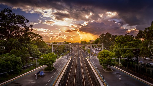 trees station clouds train sunrise canon landscape carlton sydney australia nsw