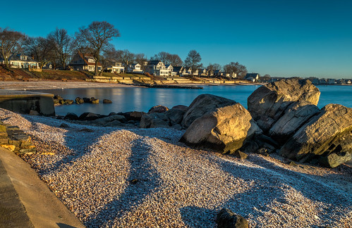 christmas connecticut hdr longislandsound nikon nikond5300 oldkelseypoint westbrook beach longexposure morning ocean reflection reflections rocks shadows sky trees water geotagged sunrise