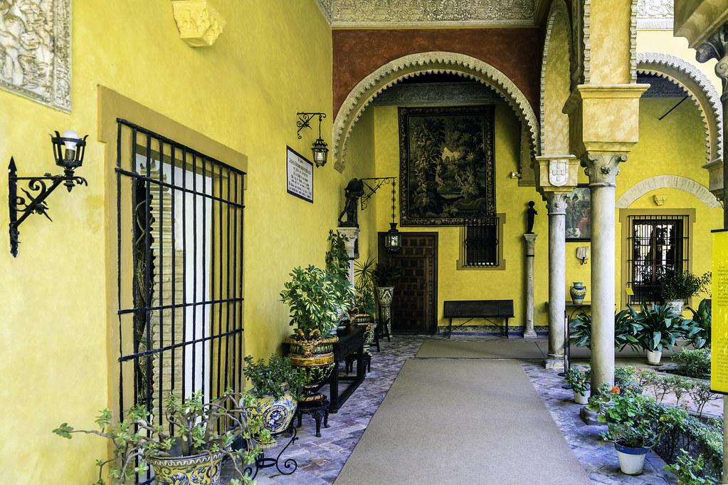 PATIO DEL PALACIO DE DUEÑAS EN SEVILLA (SPAIN) -PATIO OF THE PALACE OF DUEÑAS IN SEVILLA (SPAIN)