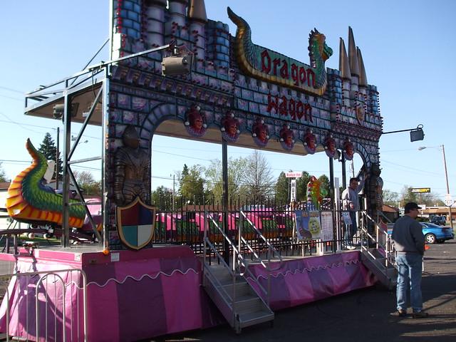 A&P Shows Dragon Wagon Coaster.