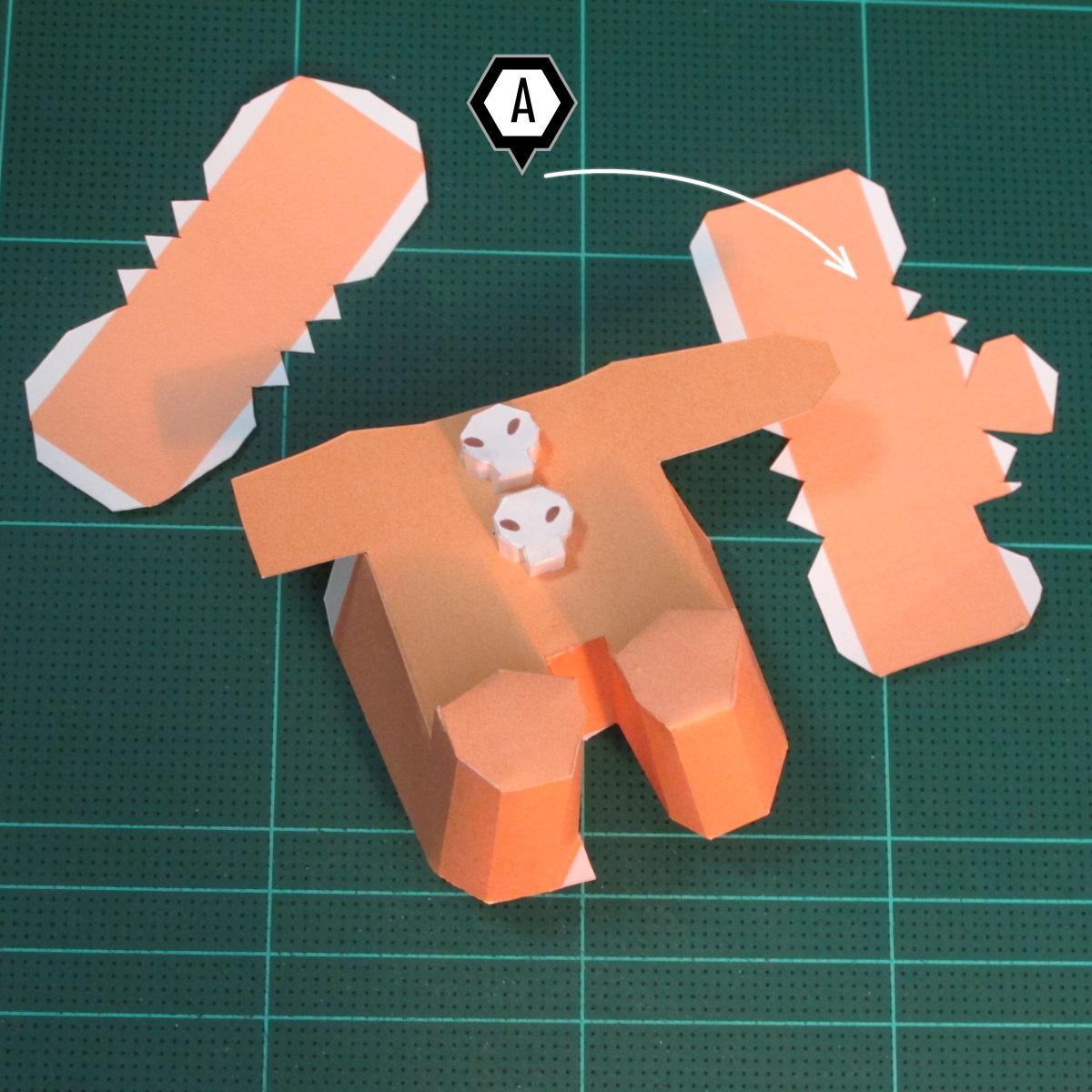 วิธีทำโมเดลกระดาษตุ้กตาคุกกี้รัน คุกกี้ผู้กล้าหาญ แบบที่ 2 (LINE Cookie Run Brave Cookie Papercraft Model Version 2) 015