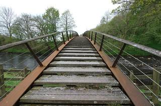 new bridge crossing the Irthing