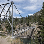 Pack bridge over the Yellowstone River