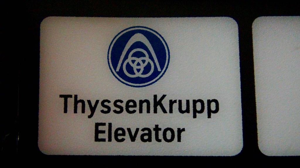 ThyssenKrupp elevator logo   brass   DieselDucy   Flickr