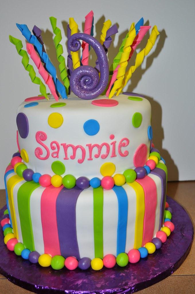 Groovy Funky Birthday Cake Morgan Garrison Flickr Personalised Birthday Cards Arneslily Jamesorg