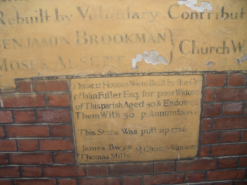 Plaque at Alms Houses Nightingale Road
