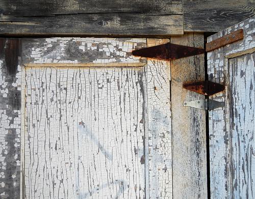 peeling paint, old wood and rust