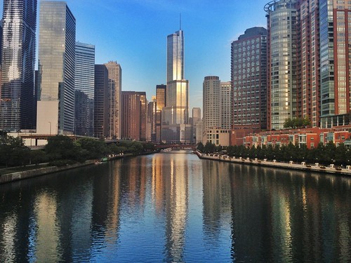 iphoneography unitedstates mabrycampbell 2013 september chicago illinois architecture building skycraper photography snapspeed photo photographer usa us iphone cityscape skyline panorama pano river skyscraper waterbuilding trump buildings water reflection skyscrapers trumptower morning image il fav10 fav20 fav30 fav40