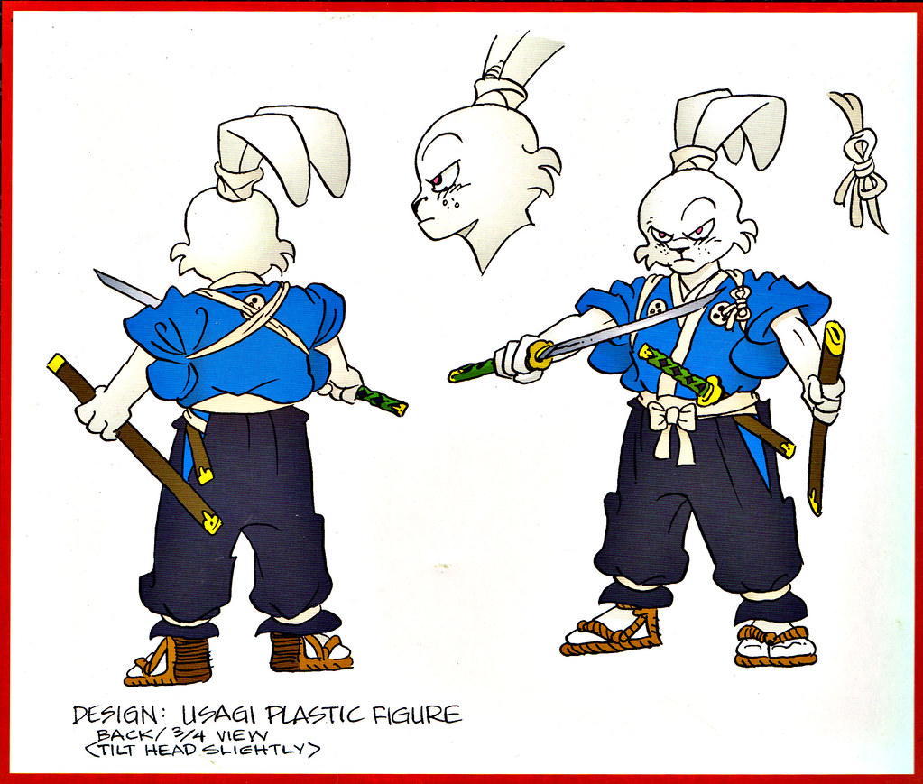 "DARK HORSE COMICS :: ""STAN SAKAI'S USAGI YOJIMBO"" PVC FIGURE ..box vii / back design art isolated (( 2003 )) by tOkKa"