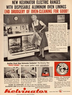 1956 Kelvinator Stove ad