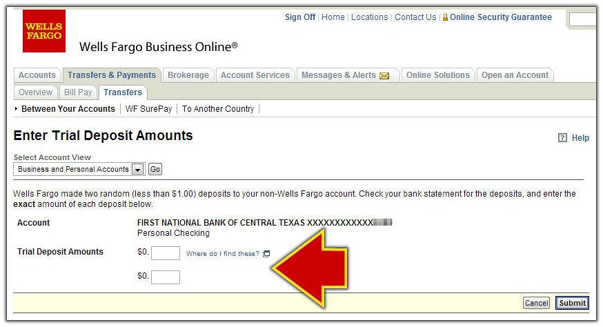 Enter Wells Fargo Trial Deposits | FamZoo Staff | Flickr
