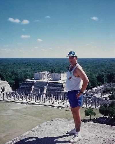 Barry atop the Pyramid of Kukulcan