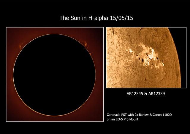 Sun in H-alpha 15/05/15