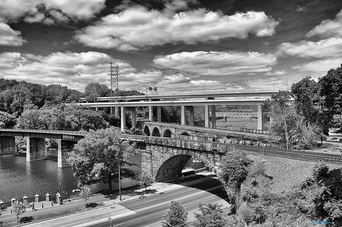 bridge sky usa philadelphia clouds mono view pennsylvania bridges route1 schuylkillriver 7мостов