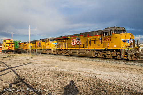 rail railroad railway track train engine locomotive transportation power horsepower scanlon canon 7d storm outdoors outdoor weather digital mojo ©mjscanlonphotography ©mjscanlon landscape logistics railfanning railfan railroader transport freight cargo merchandise commerce business move trains up8097 rawlins wyoming up5172