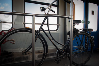 Bicycle storage on the Metro | by Wei