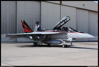 "F/A-18F Super Hornet - 166873 - VFA-154 ""Black Knights"" CAG Bird | by evansaviography"