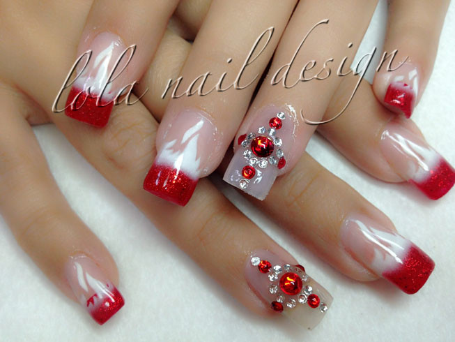 Red airbrush flame nail design | Anna Nails | Flickr