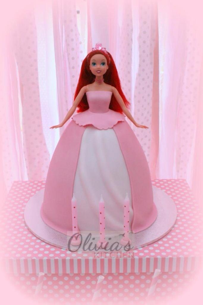 Astonishing Princess Ariel Cake Olivias Kitchen Flickr Funny Birthday Cards Online Drosicarndamsfinfo