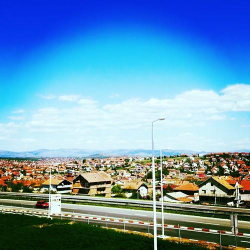 city summer clouds day view kumanovo
